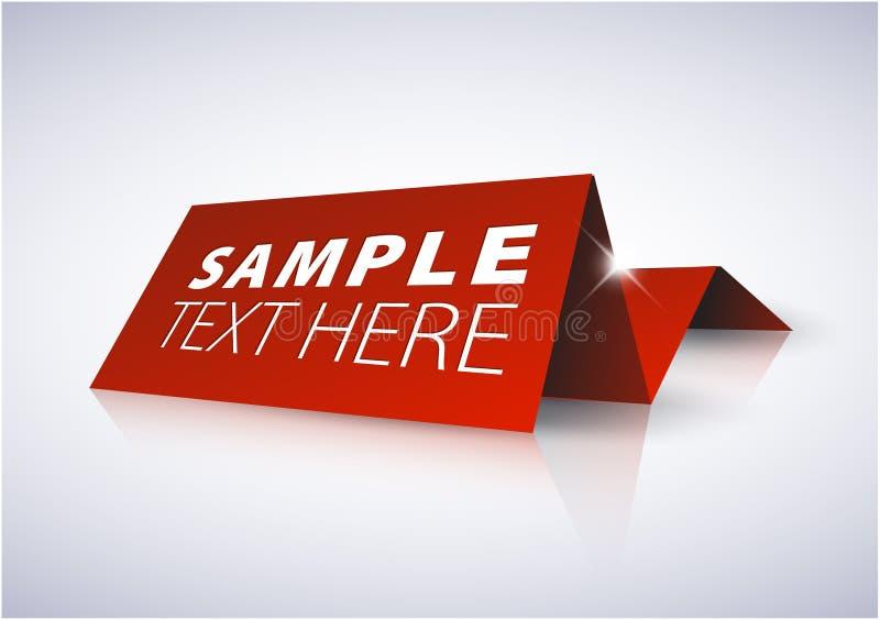 Rode markering voor belangrijke informatie stock illustratie