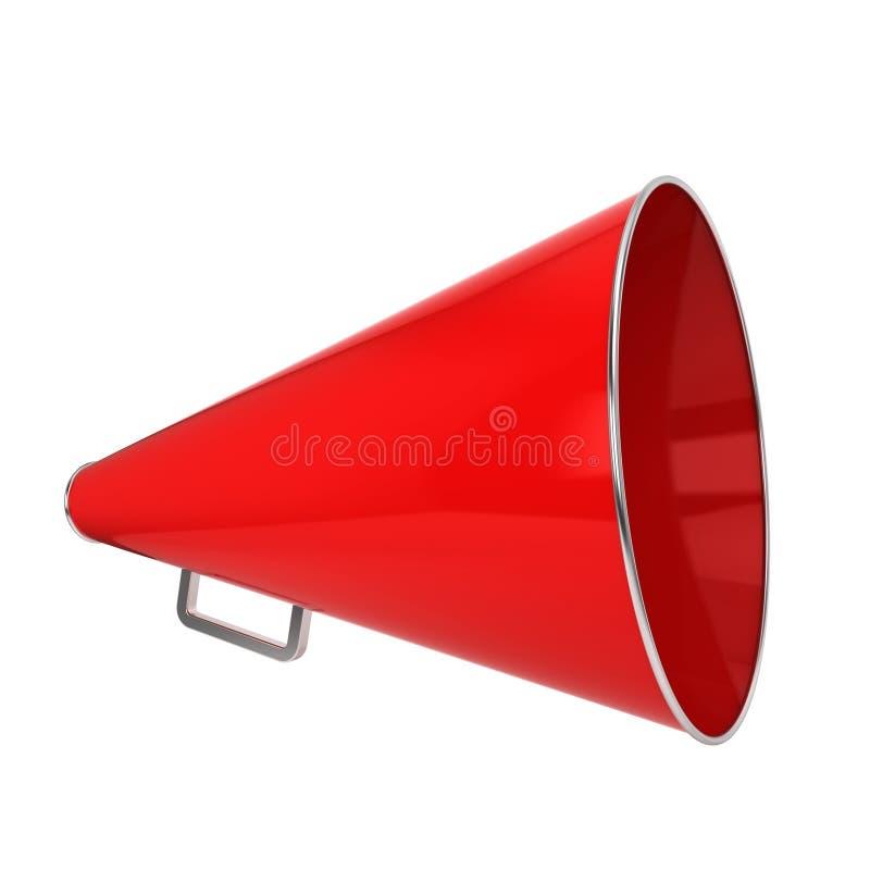 Rode megafoon royalty-vrije illustratie