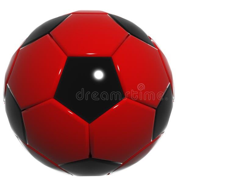 Rode metaalvoetbalbal royalty-vrije illustratie