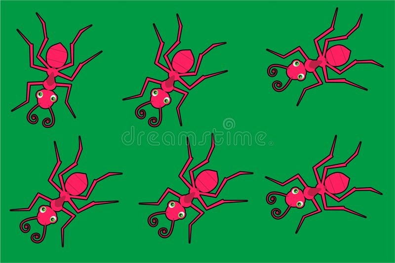 Download Rode mieren stock illustratie. Illustratie bestaande uit crawlies - 283984