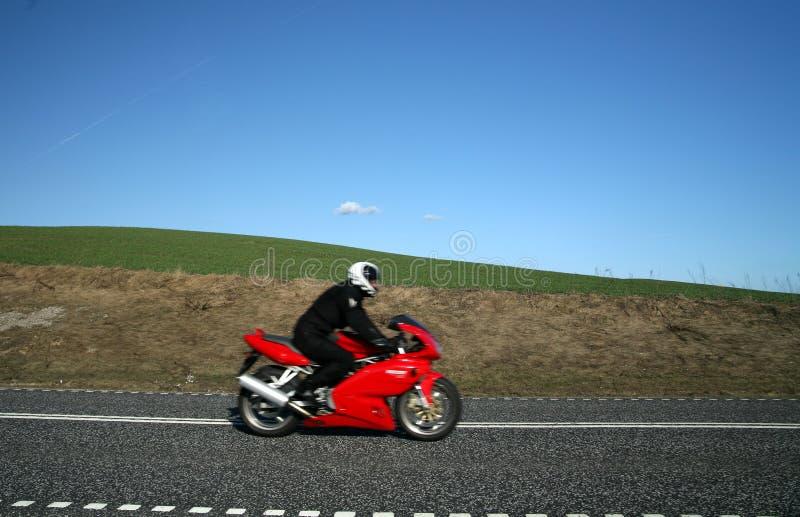 Rode motorfiets stock foto