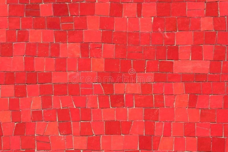 Rode mozaïeken stock fotografie
