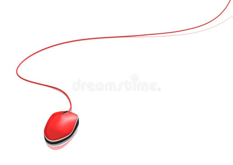 Rode muis stock illustratie
