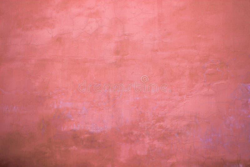 Rode muurtextuur, de oppervlakte van het kleurenpleister, abstracte achtergrond stock fotografie