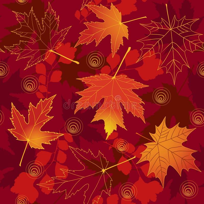 Rode naadloos van de herfst. stock illustratie