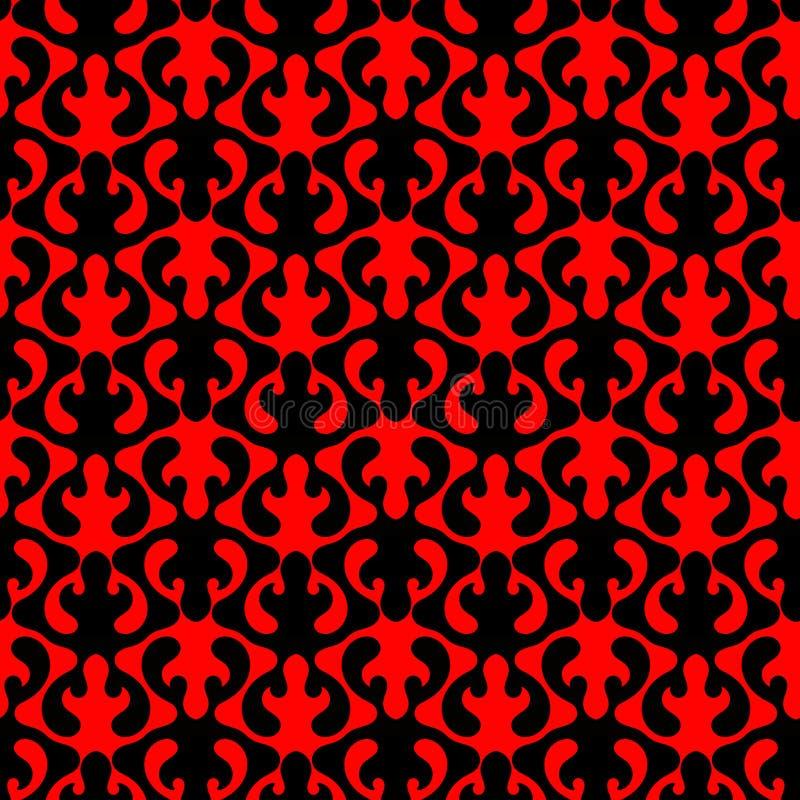 Rode Naadloze het Patroonachtergrond van de Vlammenhel vector illustratie