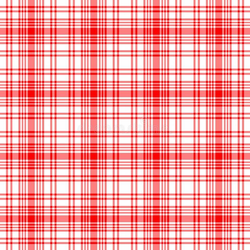Rode Naadloze Plaid stock illustratie