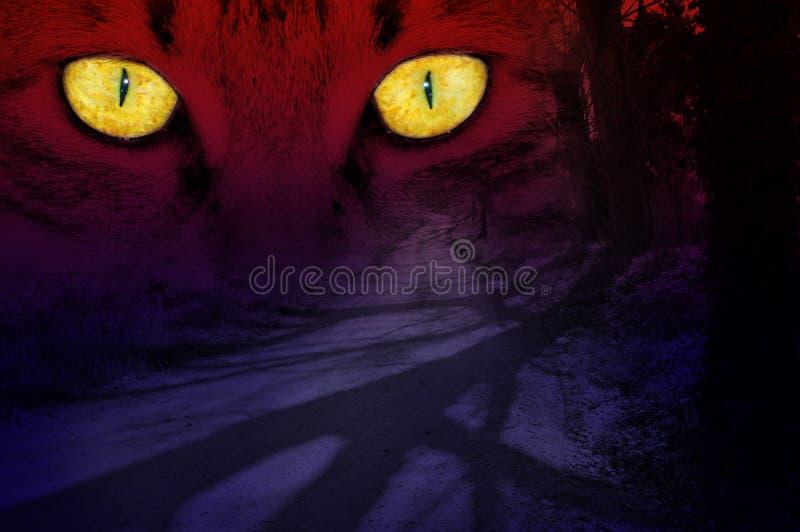 Rode nachtmerrie stock afbeeldingen