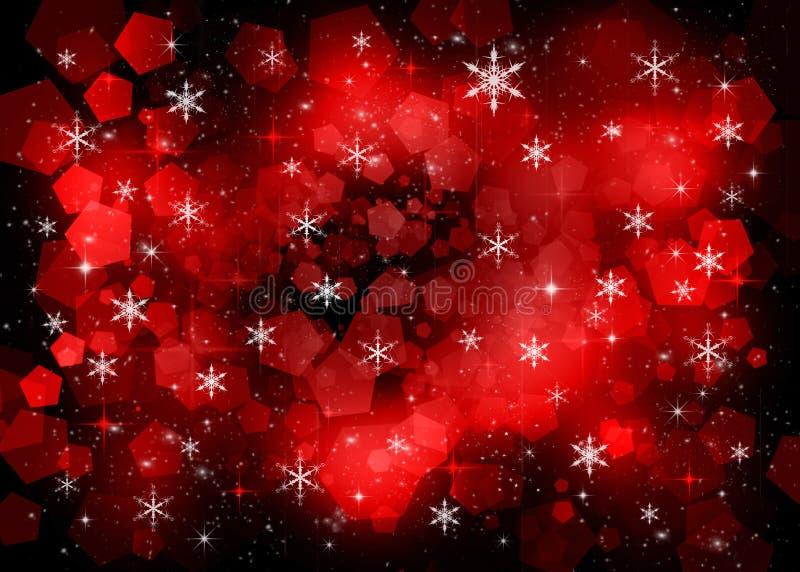 rode nieuwe jaarachtergrond stock illustratie
