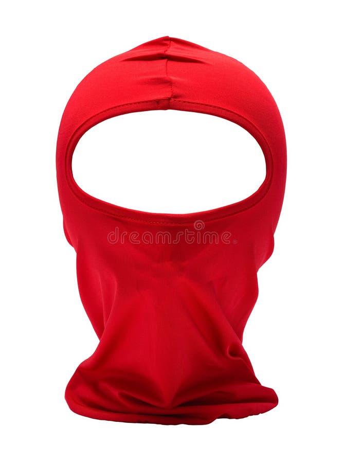 Rode Ninja Hood royalty-vrije stock afbeeldingen