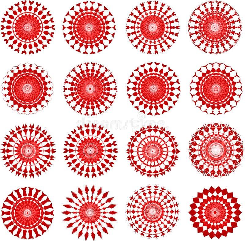 Rode ontwerpen stock illustratie