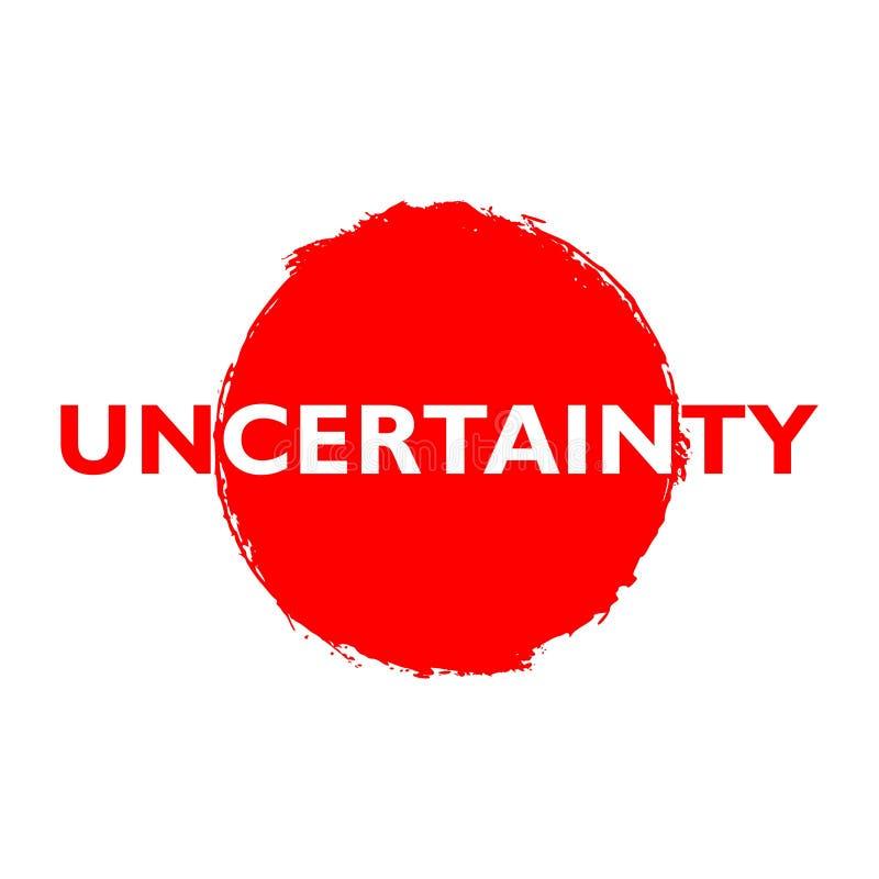 Rode Onzekerheidsknoop, teken, pictogram, embleem royalty-vrije illustratie