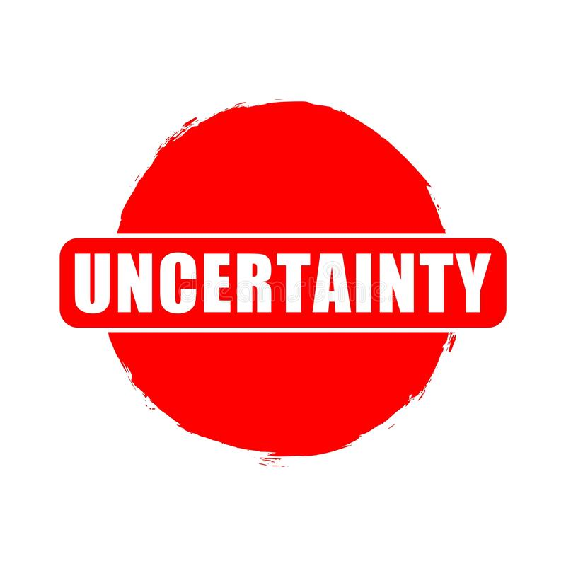 Rode Onzekerheidsknoop, teken, pictogram, embleem vector illustratie