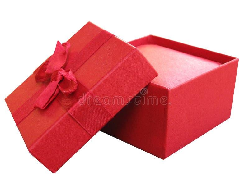 Rode open doos royalty-vrije stock afbeeldingen