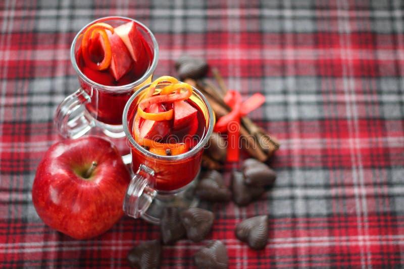 Rode overwogen wijn stock afbeeldingen