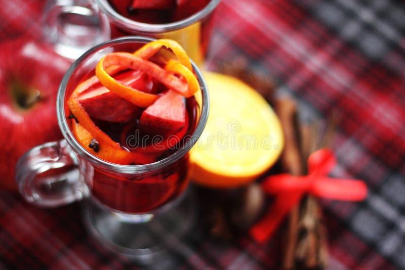 Rode overwogen wijn stock foto's