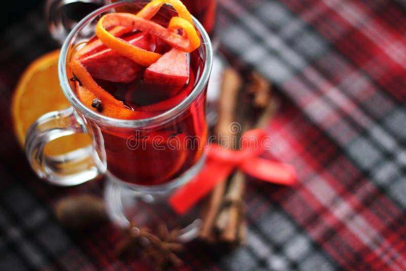 Rode overwogen wijn stock fotografie