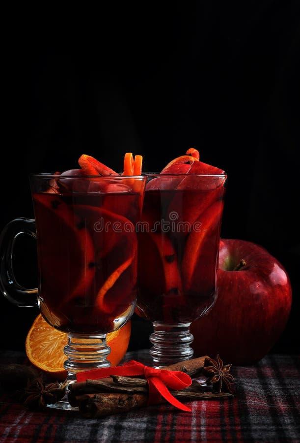 Rode overwogen wijn royalty-vrije stock afbeelding