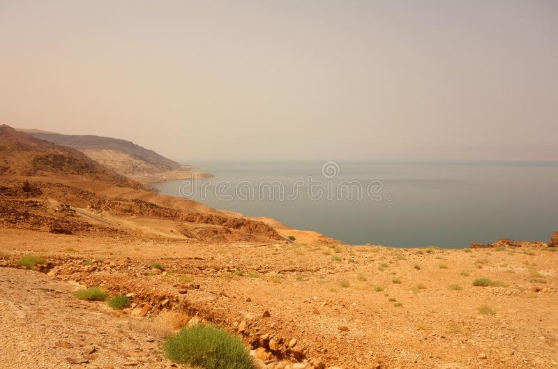 Rode Overzees in Jordanië stock afbeeldingen