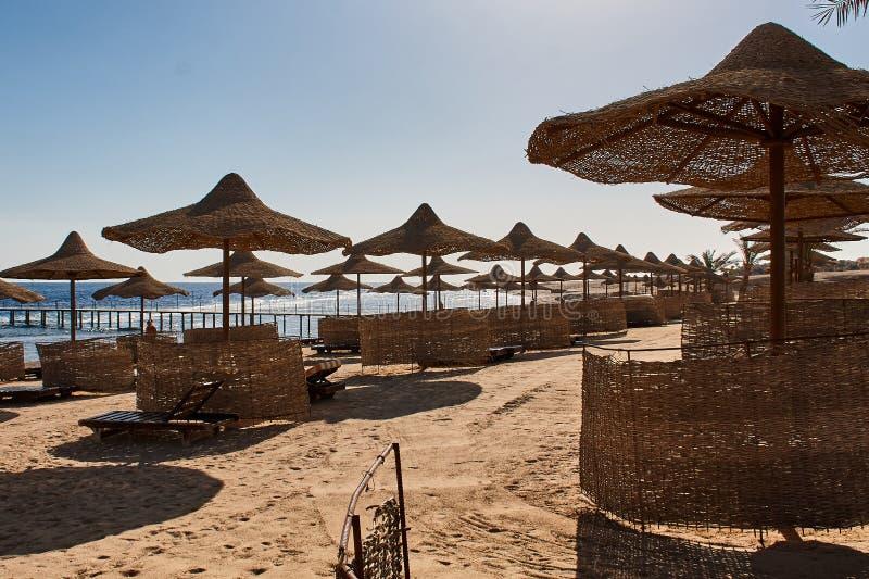Rode Overzeese kustlijn in Sharm el Sheikh stock afbeeldingen