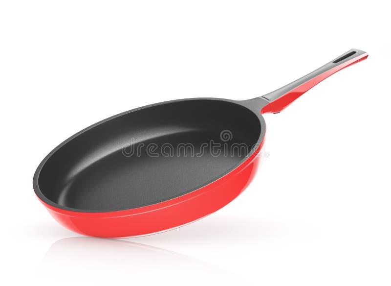 Rode pan met ceramische deklaag royalty-vrije illustratie