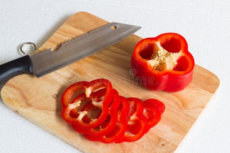Rode paprika stock foto's