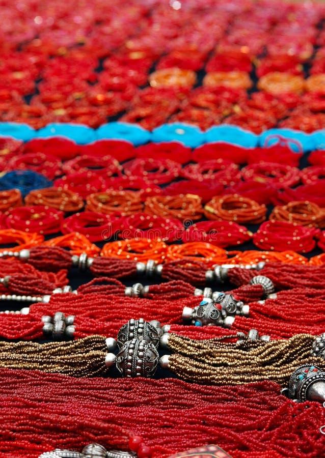 Rode Parels stock afbeelding