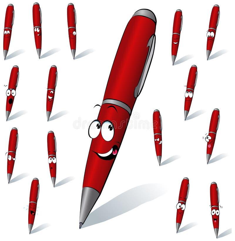 Rode pen stock illustratie