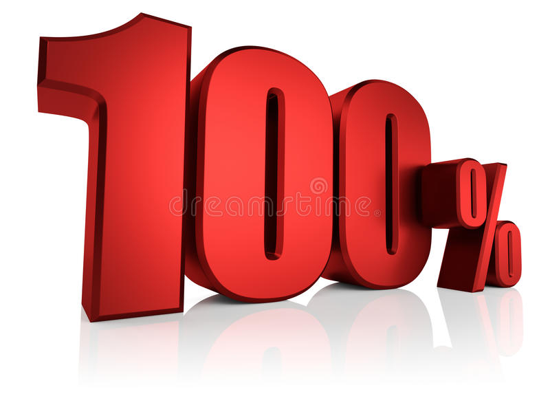 Rode 100 Percenten stock illustratie