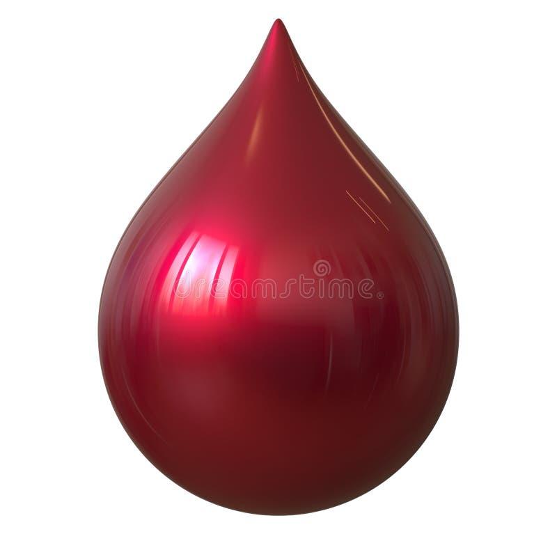 Rode perfecte daling van bloed vector illustratie