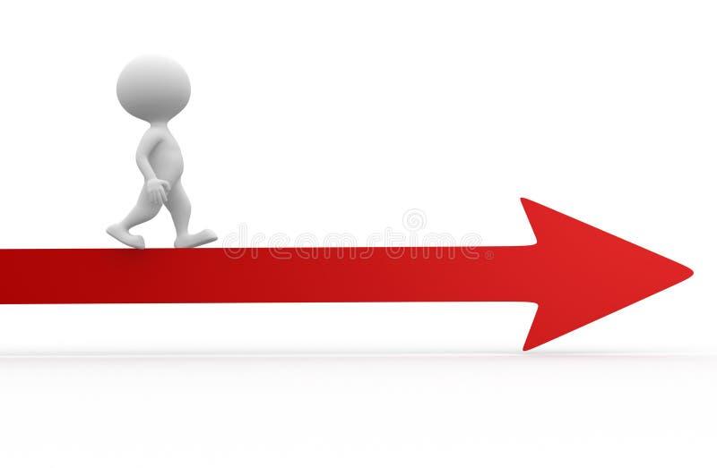 Rode pijl stock illustratie