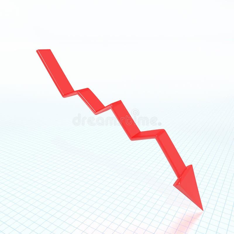 Rode pijl vector illustratie