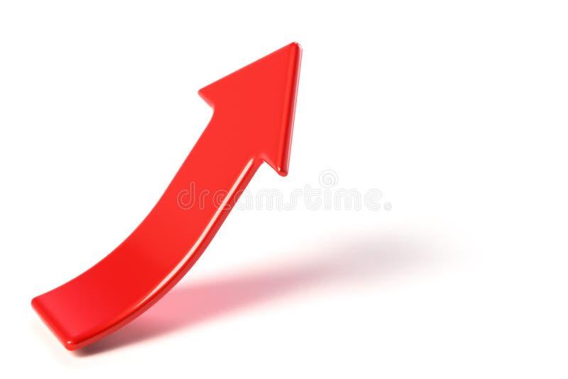 Rode pijl die naar het recht stijgen vector illustratie