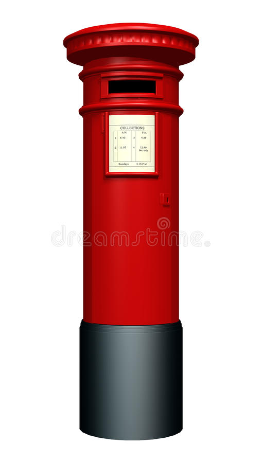 Rode Pijlerdoos royalty-vrije illustratie