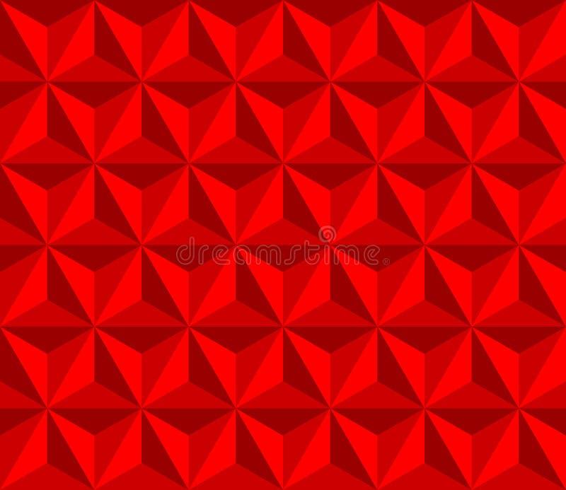 Rode piramide Vector naadloos patroon met driehoeken stock illustratie