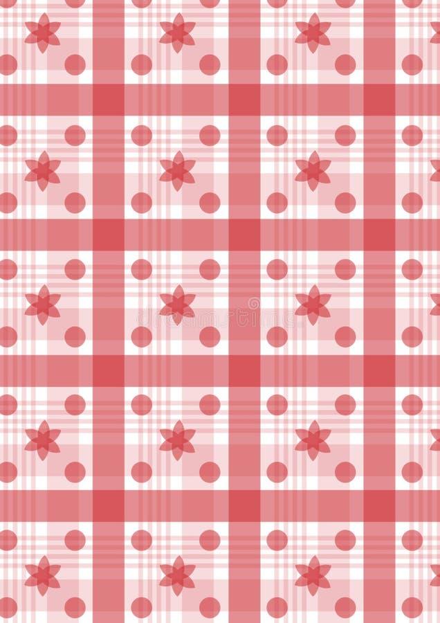 Rode plaid royalty-vrije illustratie