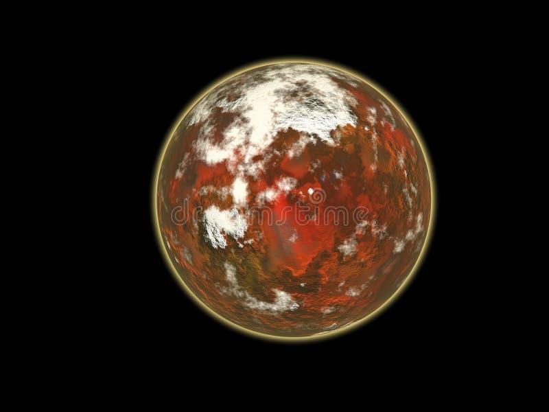 Rode planeet royalty-vrije illustratie