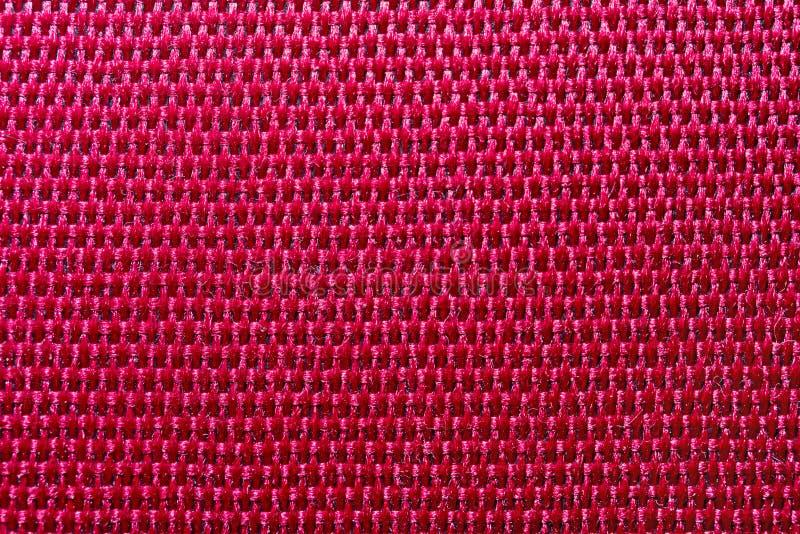 Rode polyestermacro royalty-vrije stock foto