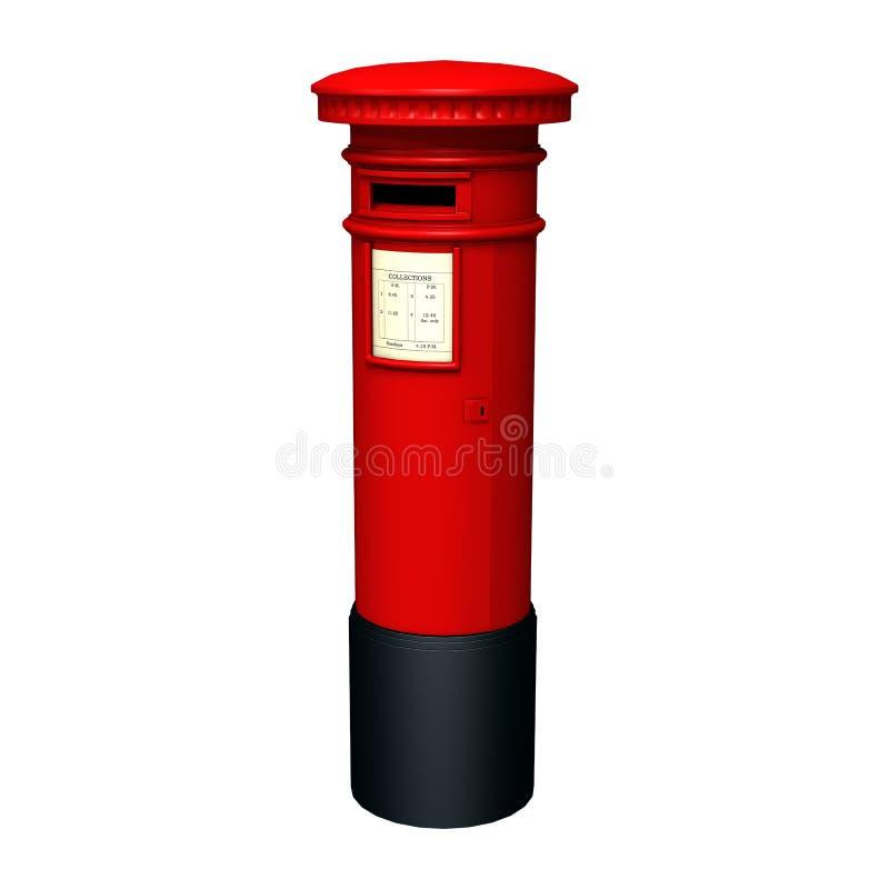 Rode Postbus stock illustratie