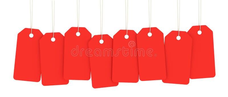Rode prijskaartjes vector illustratie