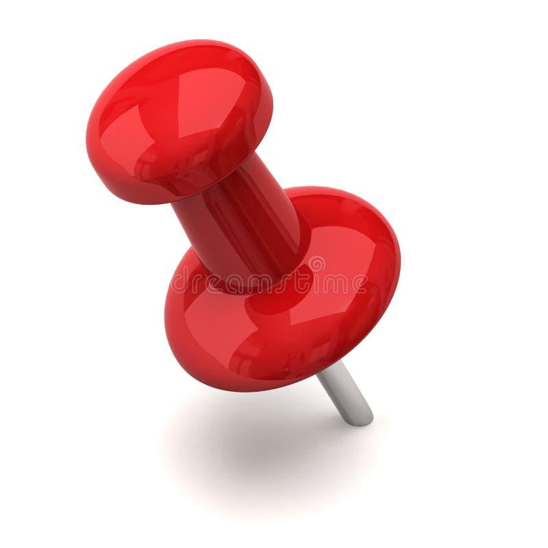 Rode punaise vector illustratie