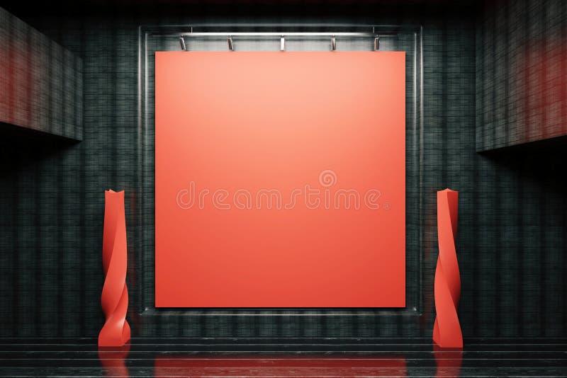 Rode raad in zwart binnenland stock illustratie