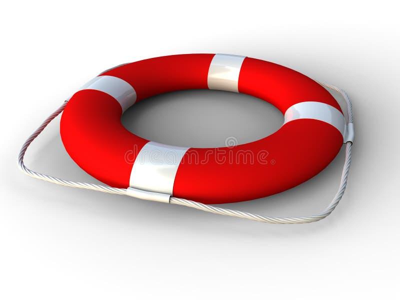 Rode reddingsgordel stock illustratie