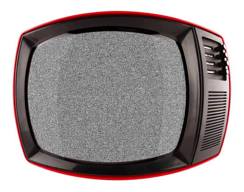 Rode retro TV stock afbeeldingen