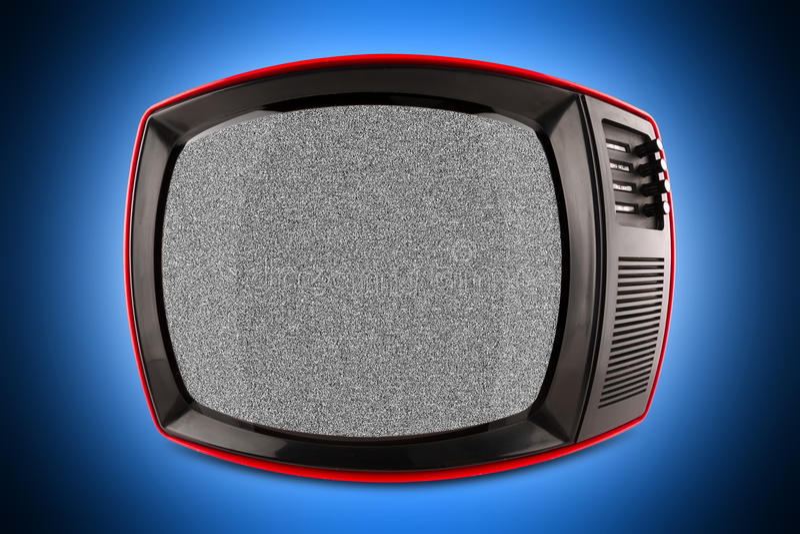 Rode retro TV royalty-vrije stock foto