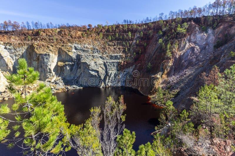 Rode riviermijnen royalty-vrije stock fotografie