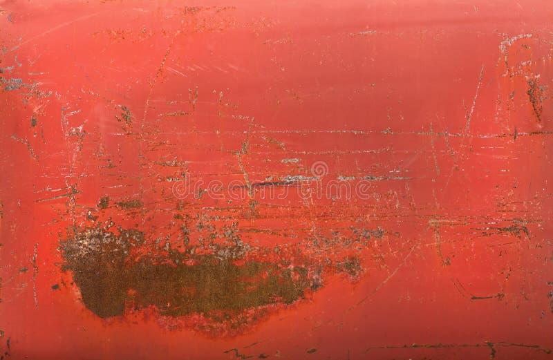 Rode roestige metaaltextuur stock afbeelding