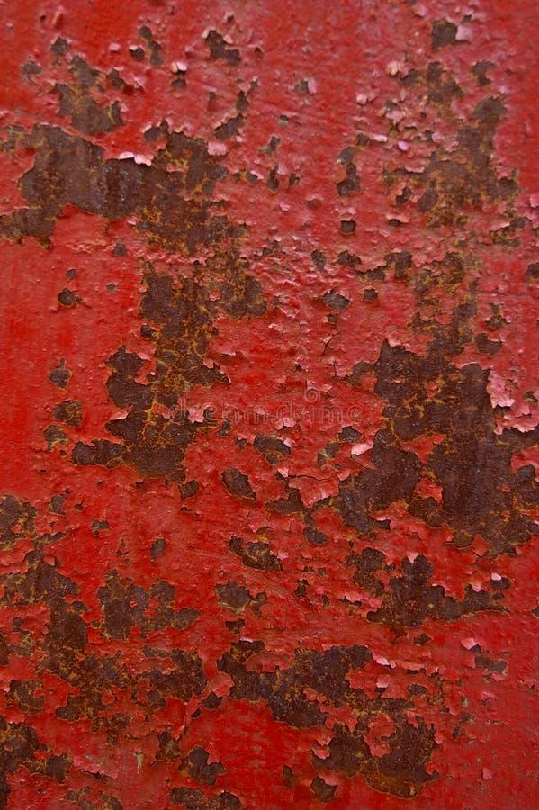 Rode roestige muurachtergrond stock foto