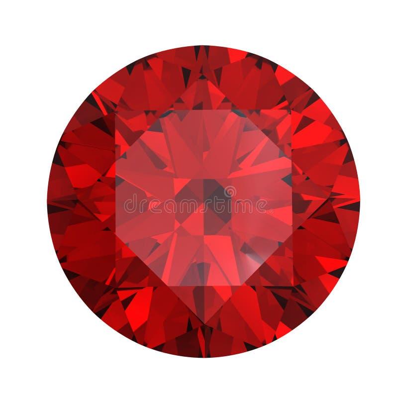 Rode rond gevormde granaat royalty-vrije illustratie