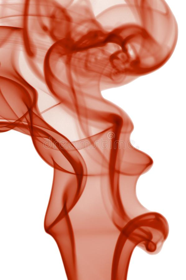 Rode rook op witte achtergrond stock foto's